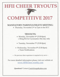 2017-18 CHEER TRYOUTS