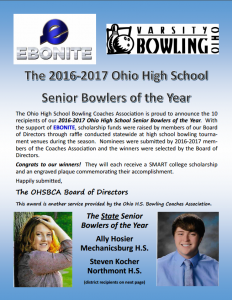 Senior Bowler Scholarship