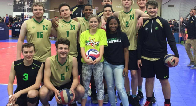 Northmont Volleyball Plays for Melanie…