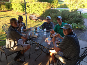 Team bonding over dinner!