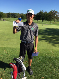 Cole posted 80 to make it to Districts as an individual!