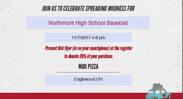 Baseball Fundraiser – MOD Pizza
