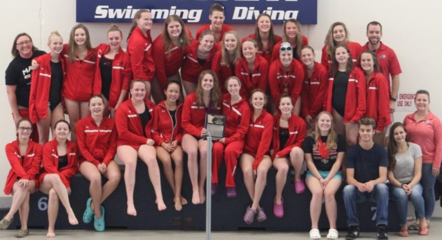 Girls Swimming/Diving 2016 True Team Section Champions