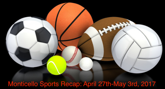 Monticello Sports Recap: April 27th-May 3rd, 2017