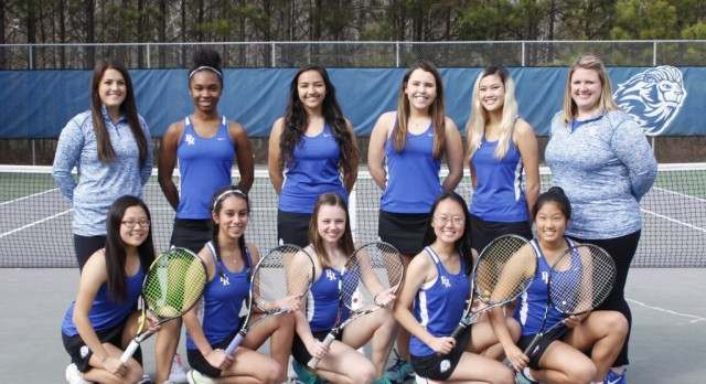 Varsity Girls Tennis move past Grayson in 1st round of State playoffs