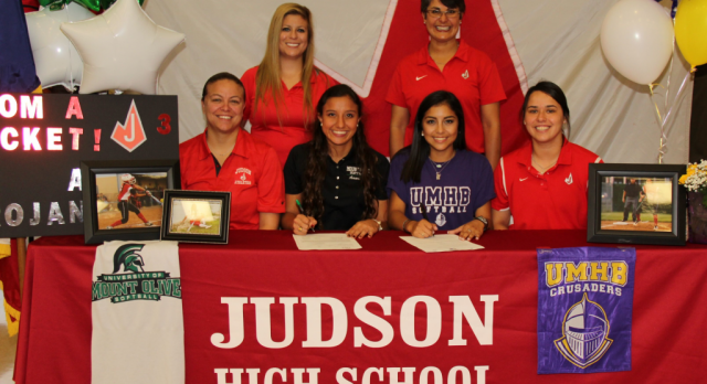 Judson Softball Players Amari Borrego and Alexis Elemen Commit!