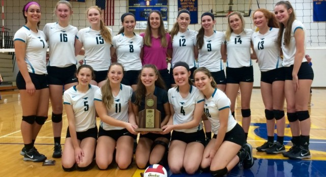 Volleyball Wins District
