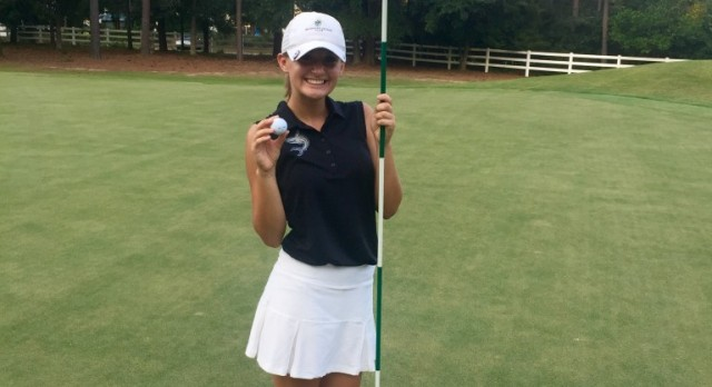 The Shot Heard 'Round the Grand Strand! Jordan White kicks off match with a hole-in-one!
