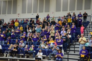 Eaton Volleyball fans celebrate the school's first District Championship since 2000. Photo provided by Eddie Mowen.