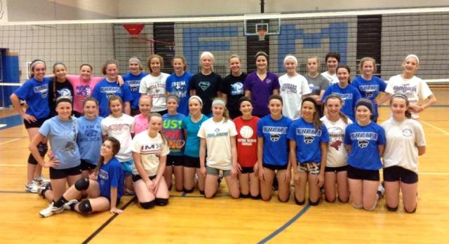 Wildcat Volleyball Training Camp