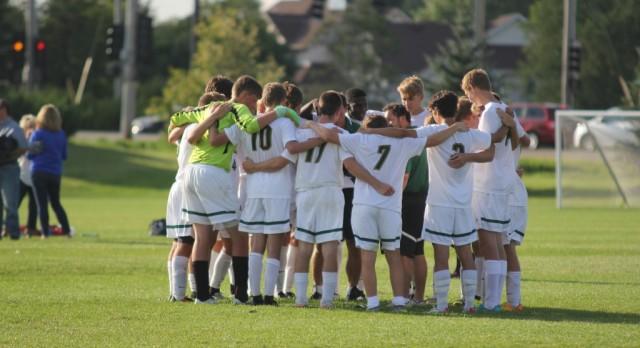New Life Academy Boys Varsity Soccer beat St. Paul Harding 5-4