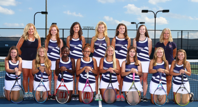Girls Varsity Tennis falls to Lexington