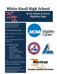 2017 NCAA Eligibility Night Flyer