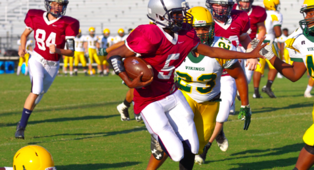 B-Team, JV Football Fall to Spring Valley