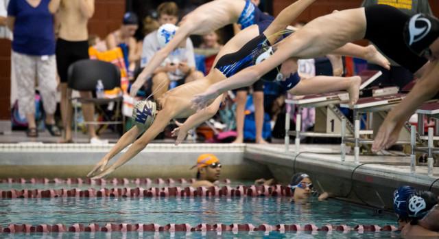 Swim Team Wins on Senior Night