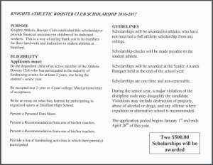 booster club scholarship page 1