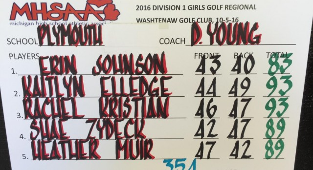Girls Golf Qualifies for MHSAA States!