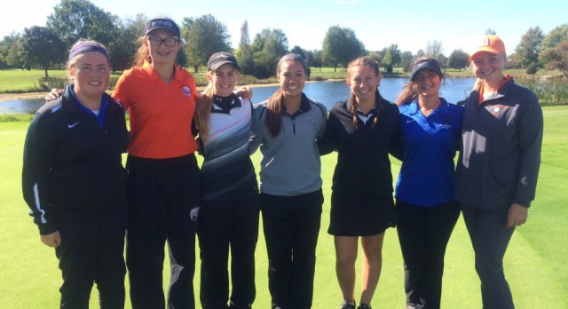 Girls golf finishes 3rd at Flint Metro League Championship meet; Hoffman, Pariseau, White and Finley earn all-league
