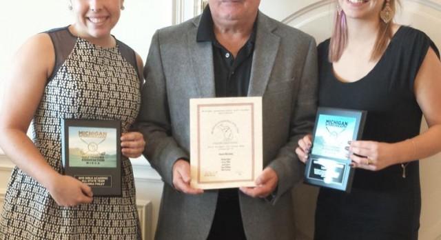 Brianna Finley, Loyd Walter and Girls Golf program honored by Michigan Golf Coach Coaches Association