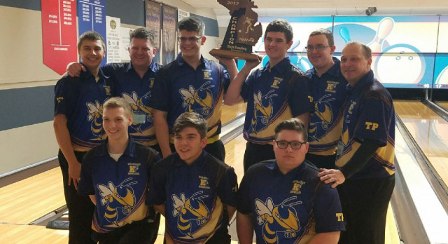 Regional Champs!  Boys bowling wins fourth consecutive MHSAA regional