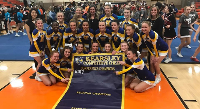 New Blue!  Competitive Cheer wins first-ever Flint Metro League cheer title