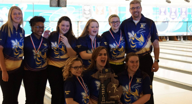 Four-peat!  Girls Bowling makes history with fourth consecutive state title