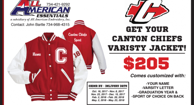 Get Your Canton Varsity Jacket Today!