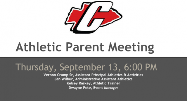 Canton Athletics – 2017 Parent Meeting Notes