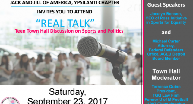 """""""REAL TALK"""" – Teen Town Hall Discussion on Sports & Politics"""