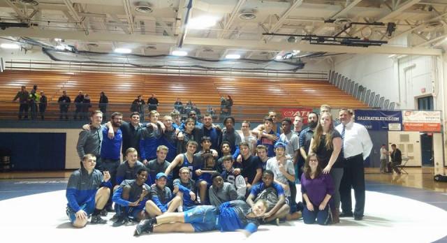 Salem Wrestling 3-peats as District Champs!