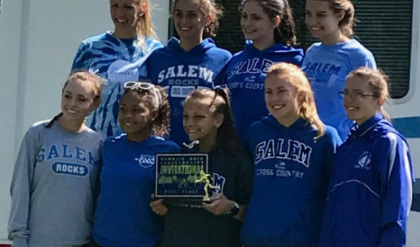 Salem High School Girls Varsity Cross Country finishes 1st place