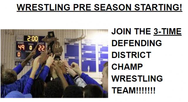 Wrestling look for VARSITY Light weights!
