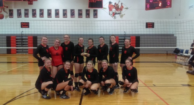 Varsity Volleyball takes 3rd at home tournament