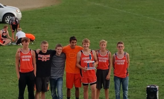 Stockbridge High School Boys Varsity Cross Country finishes 3rd place