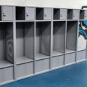 New lockers and flooring in girls locker room