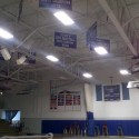New lights and paint in gym