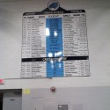 New track record board in gym
