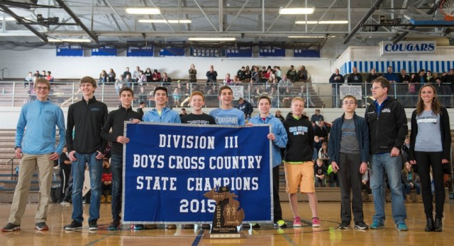 Boys XC Banner to the Rafters