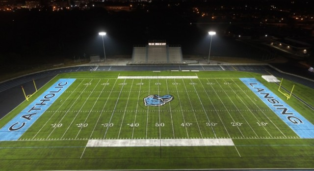 Soccer under the lights…at the new stadium