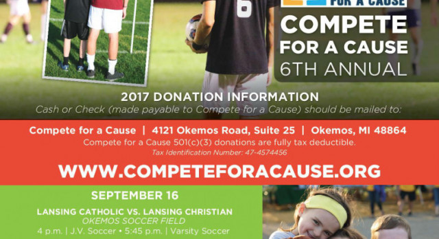 Soccer Supports Compete For A Cause on Sept. 16