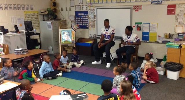RNE Athletes Visit Conder Elementary