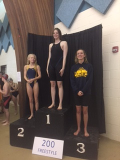 Kate Baker - 1st in the 200 Free