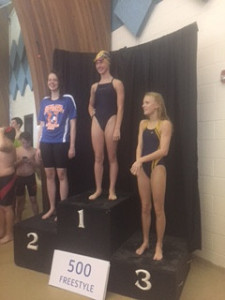 Kate Baker - 2nd in the 500 Free