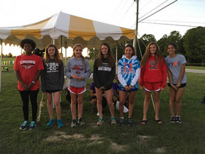 Senior Yaritzi Garcia-Hernandez, fifth from left, earned a spot on the All-Region Cross Country Team.