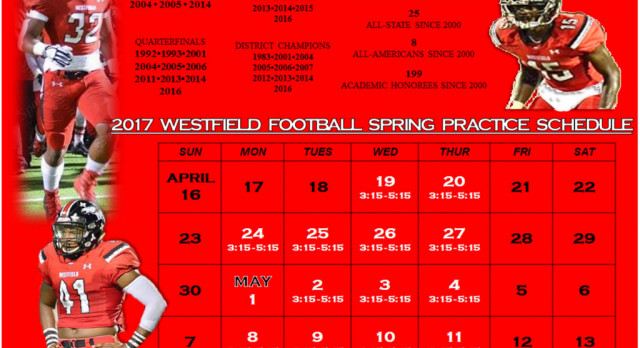 Spring Ball 2017 Practice Schedule