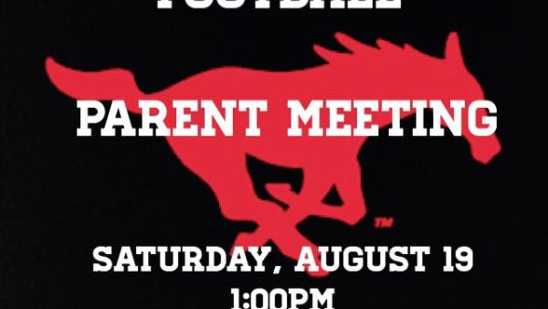 Parent Meeting 8-15-17