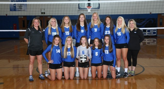 Brunswick Senior High School Girls Varsity Volleyball beat Mentor High School 3-0