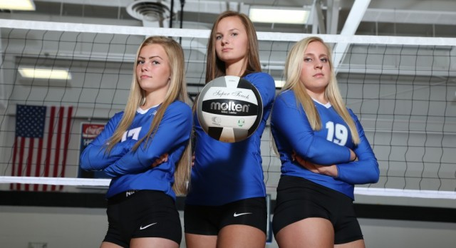 Brunswick Senior High School Girls Varsity Volleyball beat North Royalton High School 3-0
