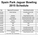 2015 Bowling Schedule