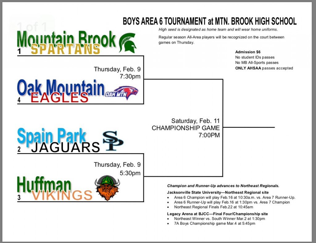 Boy's 7A Area 6 Basketball Tournament Bracket - This is the home ...
